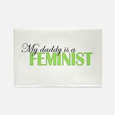 Daddy Feminist Rectangle Magnet