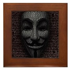 Anonymous 99% Occupy t-shirt Framed Tile