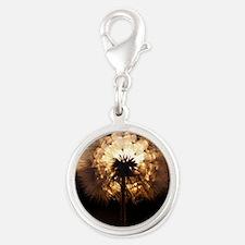 Glow Silver Round Charm