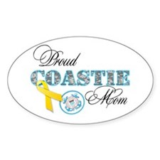 Proud Coastie Mom Decal
