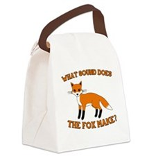 fox Vulpes vulpes Canvas Lunch Bag