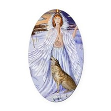 goddess bridget of imbolc Oval Car Magnet