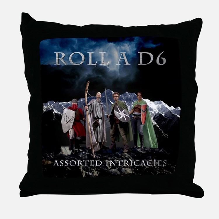 Roll A D6 Cover Throw Pillow