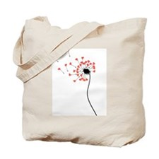 LOVE HEARTS FLOWER Tote Bag