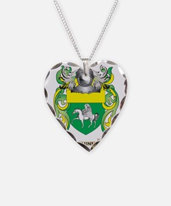 Quinn Coat of Arms (Family Cr Necklace Heart Charm