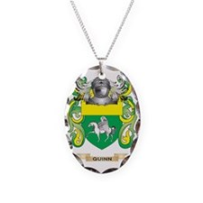 Quinn Coat of Arms (Family Cre Necklace Oval Charm
