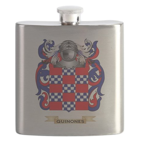 Quinones Coat of Arms (Family Crest) Flask