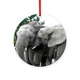 Elephant Round Ornaments