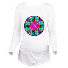 Ocean Opal Circle Long Sleeve Maternity T-Shirt