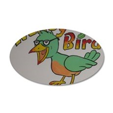 Nerdy Bird 35x21 Oval Wall Decal