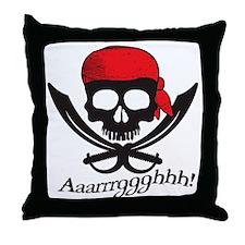 Pirate Aaarrrggghhh! Throw Pillow