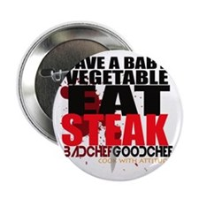 """Save A Vegetable 2.25"""" Button"""