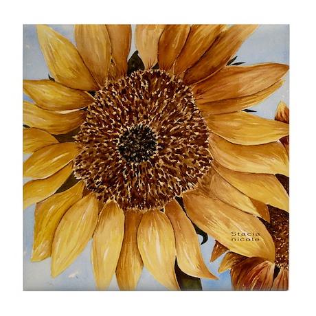 Stacia Nicole's Sunflower Tile Coaster