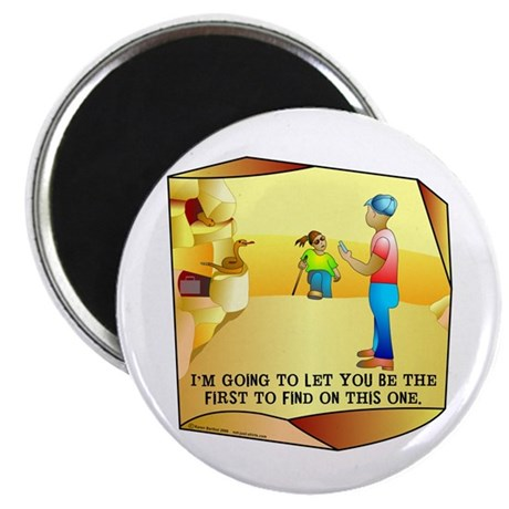 """Geocaching First to Find 2.25"""" Magnet (10 pack)"""