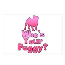 Who's your Puggy? (Pink) Postcards (Package of 8)