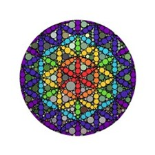 """Flower of Life 3.5"""" Button"""