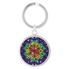 Flower of Life Round Keychain