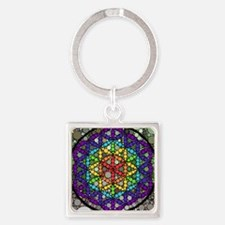 Flower of Life Square Keychain