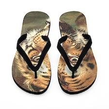 Bengal Tiger King and controler - Copy  Flip Flops