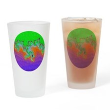 Painted Julia Set Fractal Drinking Glass