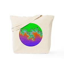 Painted Julia Set Fractal Tote Bag