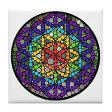 Flower of Life Circle Tile Coaster