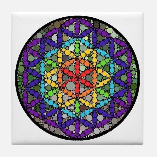 Flower of Life Circle Tile Coaster