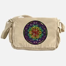 Flower of Life Circle Messenger Bag