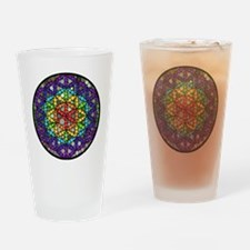 Flower of Life Circle Drinking Glass