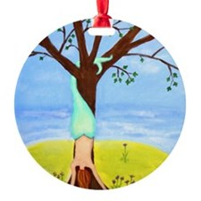 Out Of Water Mermaid Art Ornament