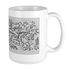 Lots O' Dragons Gray Mug