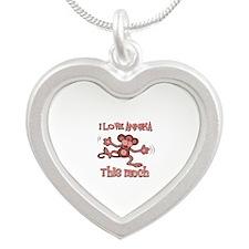 I love Annika Silver Heart Necklace
