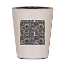 Retro Grey Squares Shot Glass