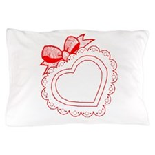 Red Heart Box Of Chocolate Pillow Case
