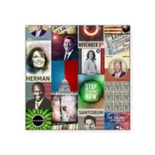 "Conservatives Collage Square Sticker 3"" x 3"""