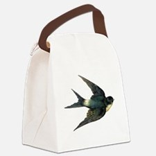 Vintage Swallow Bird Art Canvas Lunch Bag