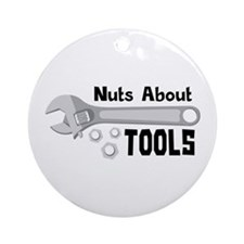 Nuts About Tools Ornament (Round)
