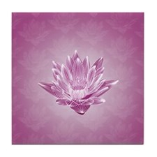 Pink Water Lily Tile Coaster