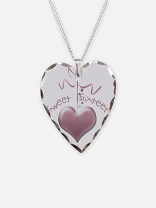 Sweet Sixteen Pink Heart Necklace
