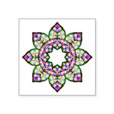 "Lotus Square Sticker 3"" x 3"""