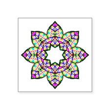 "Lotus Square Sticker 3"" x 3"""