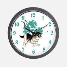 KITTEN AND BEES Wall Clock