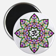 Lotus Om Black Magnet