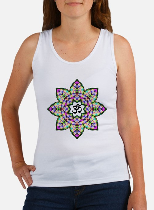 Lotus Om Black Women's Tank Top