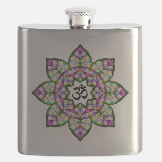 Lotus Om Black Flask