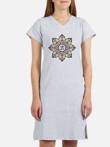 Lotus Om Black Women's Nightshirt