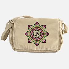 Lotus Om Black Messenger Bag
