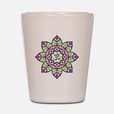 Lotus Om Black Shot Glass