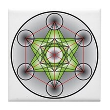 Metatron's Cube Tile Coaster