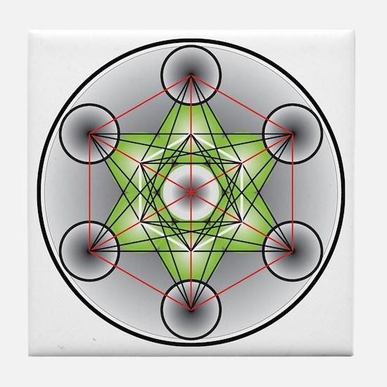 Metatron's Cube Tile Coaster